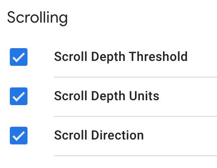 scroll depth gtm variables